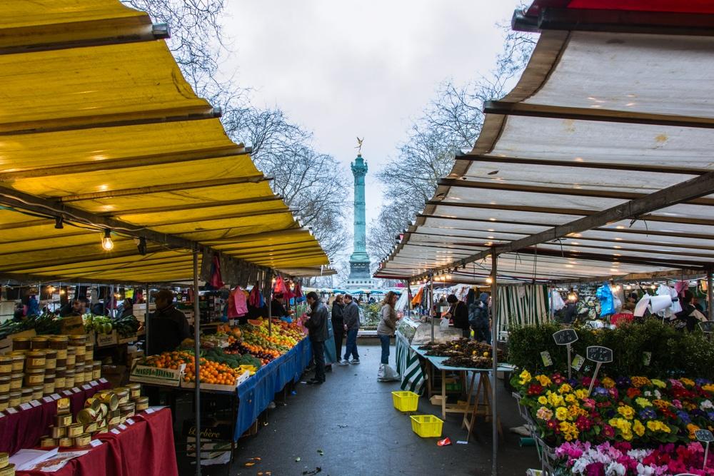 Escapada a París. Paseando por el mercado de la Bastilla
