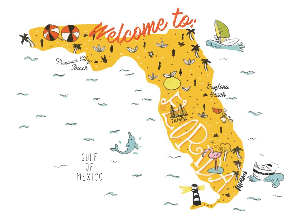 Preparativos de una ruta por Florida de 12 días viajando con un bebé de 21 meses