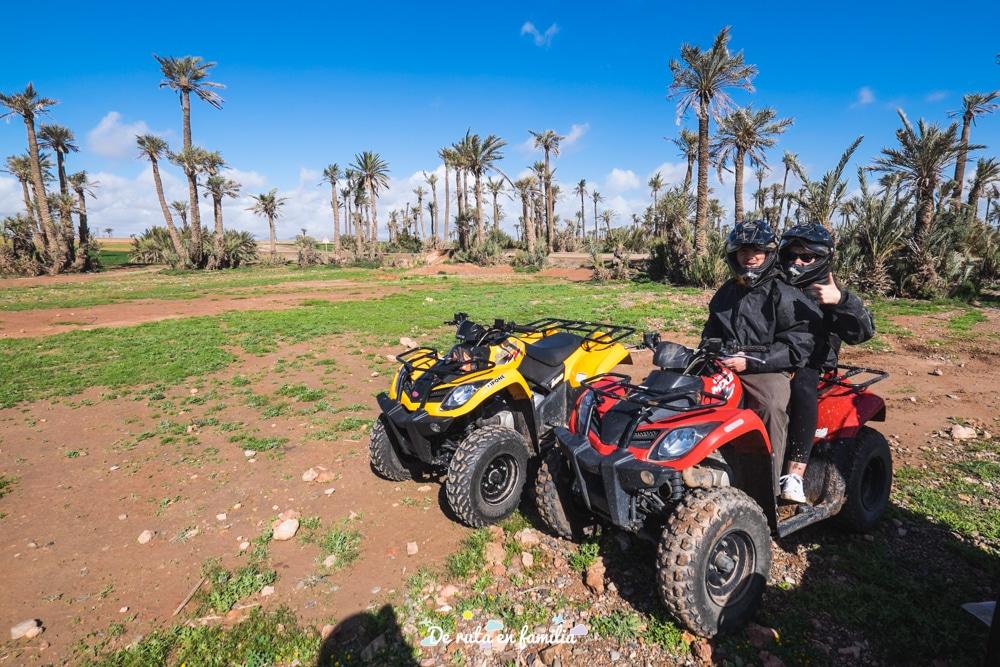 ruta en quad por el palmeral de marrakech
