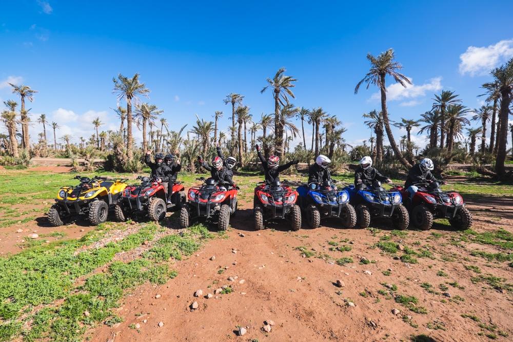 Ruta en quad por el Palmeral y el desierto de Marrakech