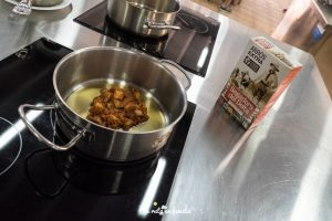arroz de cangrejo azul
