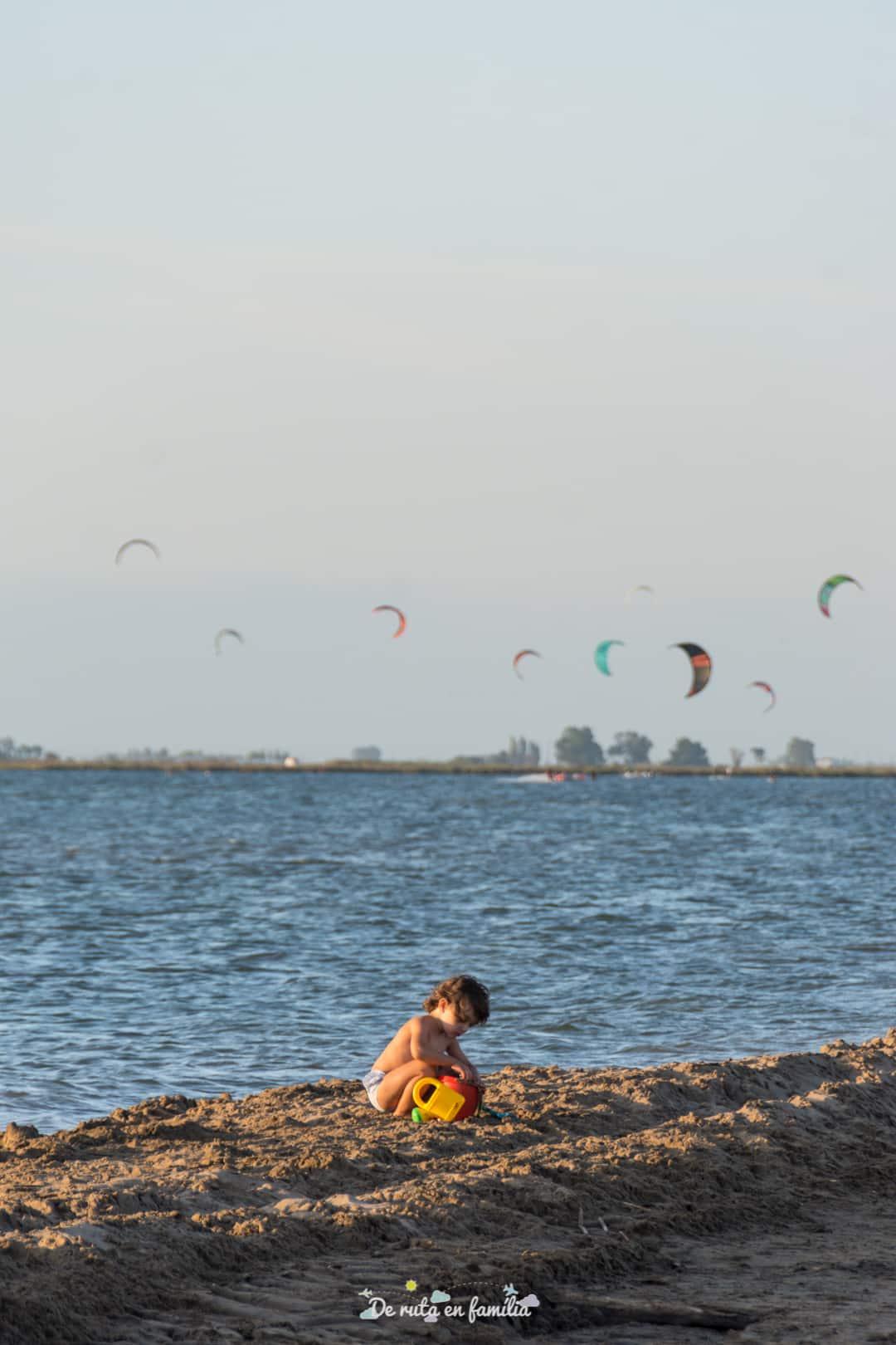 Delta del Ebro con niños