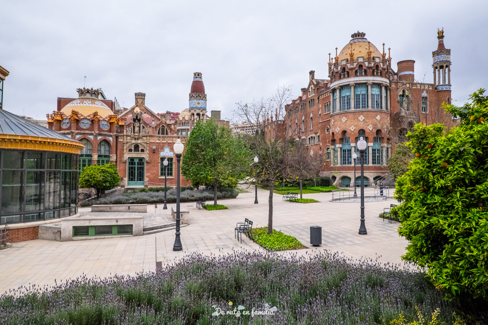 Recinto modernista de Sant Pau de Barcelona