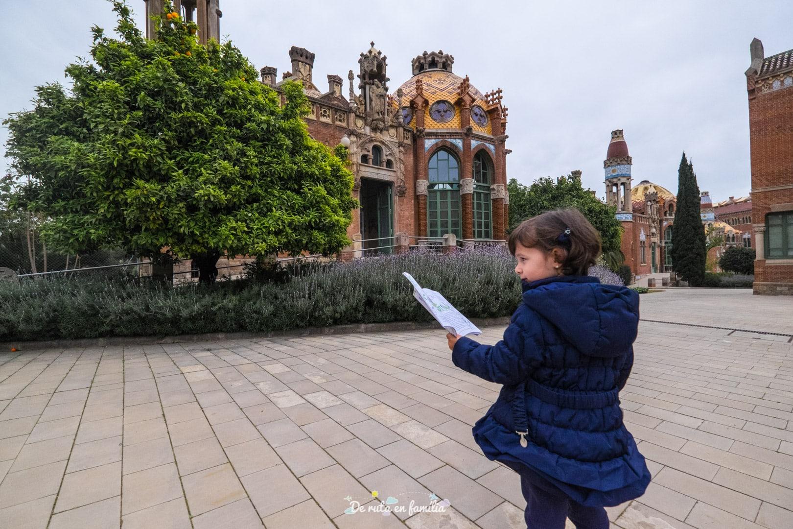 Barcelona con niños. Recinto modernista de Sant Pau
